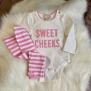 Kate Spade: Pink & White Onesie Set